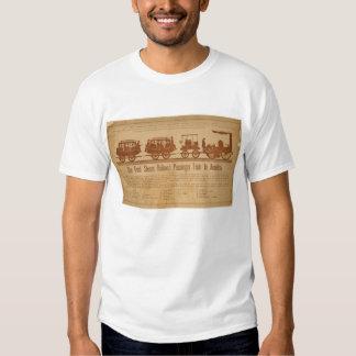 Primer tren de pasajeros del ferrocarril del vapor camiseta