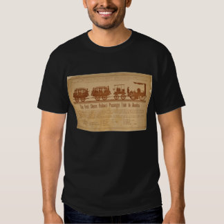 Primer tren de pasajeros del ferrocarril del vapor camisetas