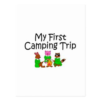 Primera acampada que acampa postal