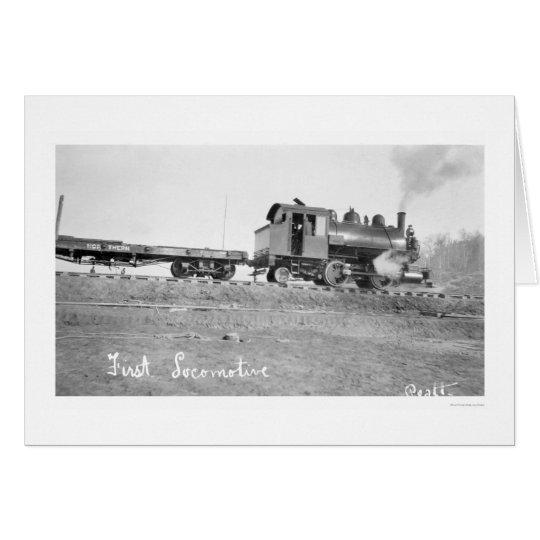 Primera Alaska locomotora 1912 Tarjeta De Felicitación