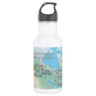 Primera botella de agua de la traducción de la