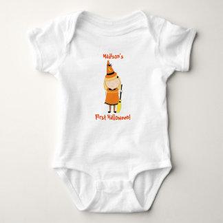 Primera camisa de Halloween del bebé, bruja