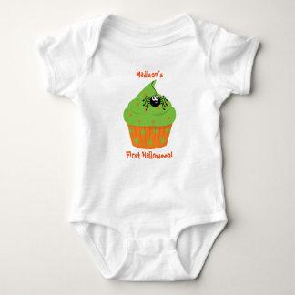 Primera camisa de Halloween del bebé, magdalena,