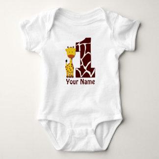 Primera camisa del cumpleaños de la jirafa