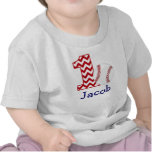 Primera camisa del cumpleaños del béisbol adaptabl
