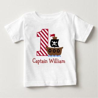 Primera camisa del cumpleaños del pirata adaptable