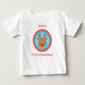 Primera camiseta de Navidad Rudolf del navidad