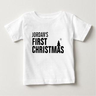 Primera camiseta del bebé del navidad del bebé