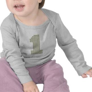 Primera camiseta impresa del bebé del cumpleaños