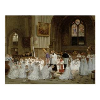 Primera comunión, 1867 postal