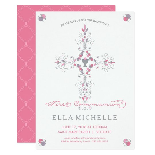 invitaciones de primera comunion zazzle