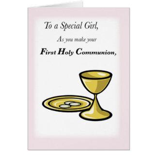 Primera comunión, chica especial tarjetas