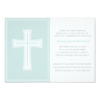 Primera comunión de los muchachos azules invitación 12,7 x 17,8 cm