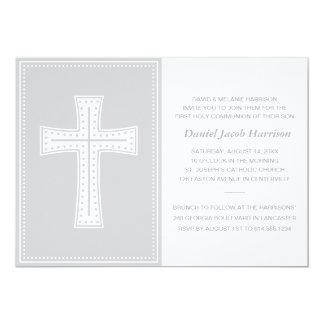 Primera comunión de los muchachos grises invitación 12,7 x 17,8 cm