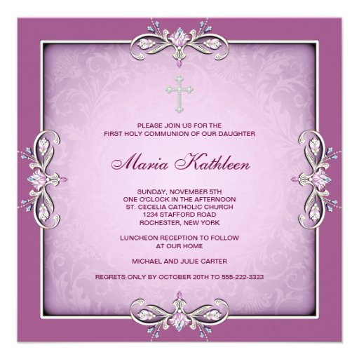Free First Communion Invitations for Girls