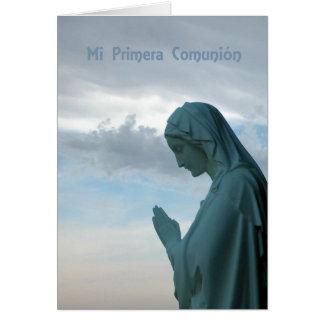 Primera comunión del español, Felicidades Primera  Tarjeta De Felicitación