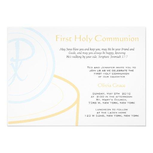 Primera comunión invitación personalizada