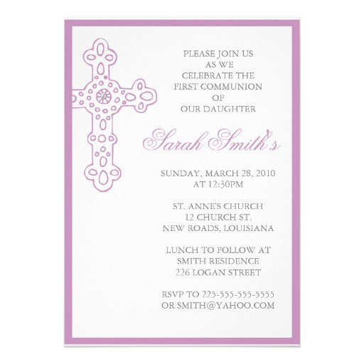 Primera comunión invitación