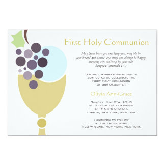 Primera comunión invitación 12,7 x 17,8 cm