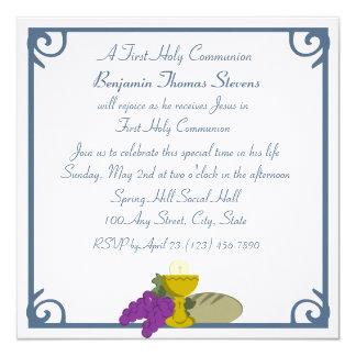 Primera comunión invitación 13,3 cm x 13,3cm
