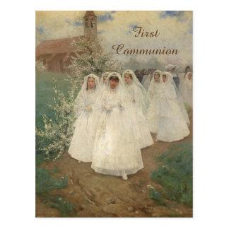 Primera comunión postal