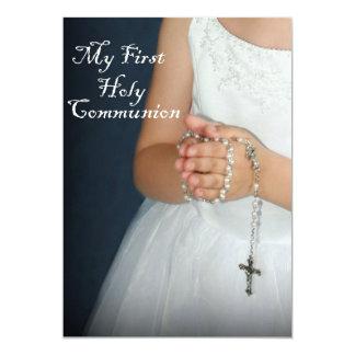 Primera comunión santa 4 invitación 12,7 x 17,8 cm