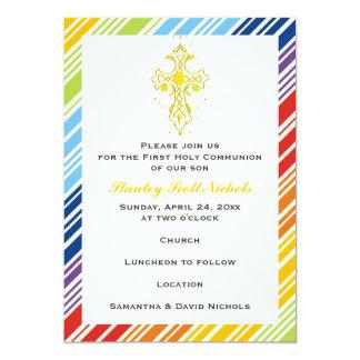 Primera comunión santa/bautismo/confirmación invitación 12,7 x 17,8 cm