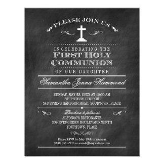 Primera comunión santa de la pizarra decorativa comunicados