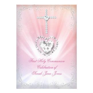 Primera comunión santa divinamente 2 rosados blanc