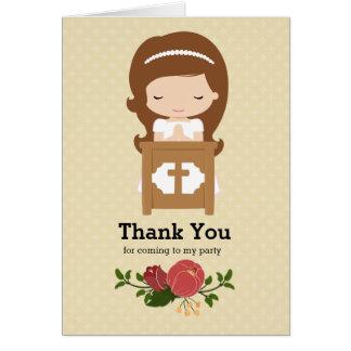 Primera comunión santa * elija el color de fondo tarjeta de felicitación