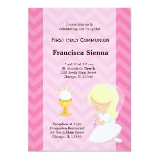 Primera comunión santa invitación 12,7 x 17,8 cm