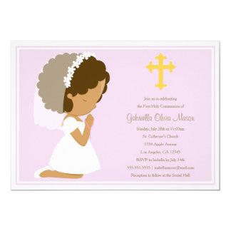 Primera comunión santa - invitación de la lavanda