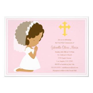 Primera comunión santa - invitación del rosa el |