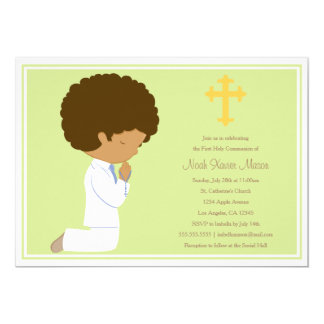 Primera comunión santa - invitación del verde el  