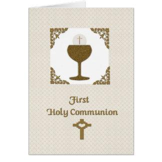 Primera comunión santa tarjeta