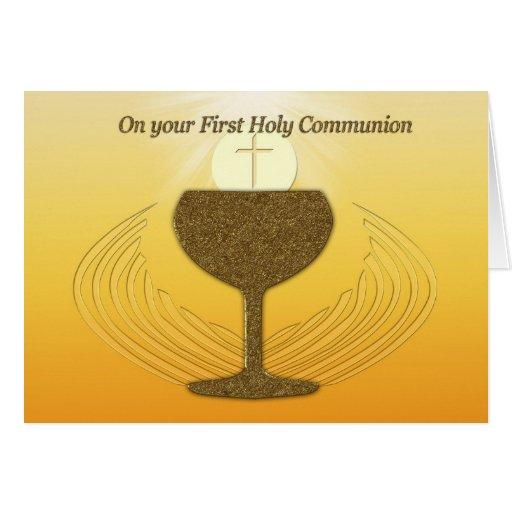 Primera comunión santa tarjetón