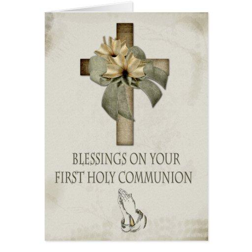 Primera comunión santa felicitacion