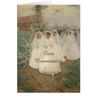 Primera comunión tarjeta de felicitación