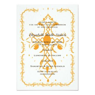 Primera confirmación de la comunión de la cruz invitación 12,7 x 17,8 cm