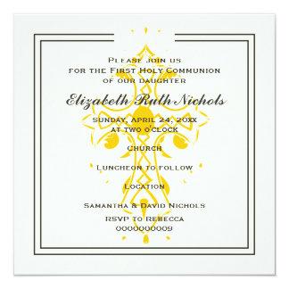 Primera confirmación de la comunión de la cruz invitación 13,3 cm x 13,3cm