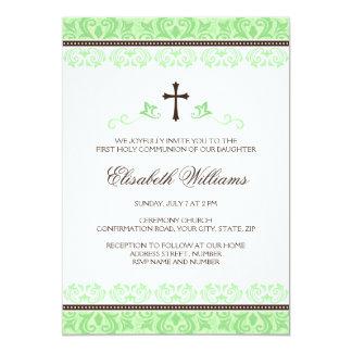 Primera confirmación de la comunión santa del invitación 12,7 x 17,8 cm