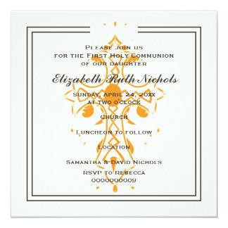 Primera confirmación del bautismo de la comunión invitación 13,3 cm x 13,3cm