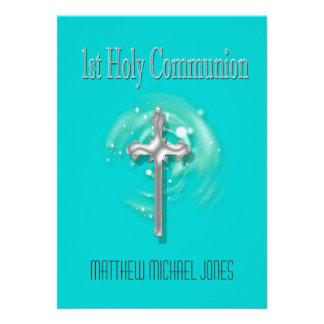 Primera cruz de la plata de la comunión santa invitacion personal