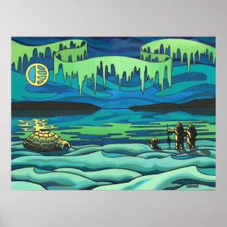 Primera decoración del hogar del amor del Inuit de Posters