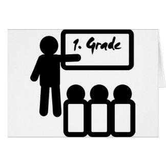 primera escuela primaria tarjeta de felicitación