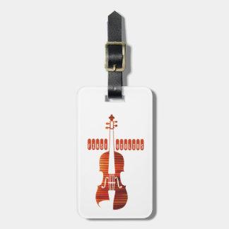 Primera etiqueta del equipaje de los violines