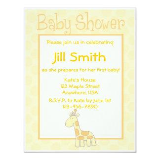 Primera fiesta de bienvenida al bebé - amarillo invitación 10,8 x 13,9 cm