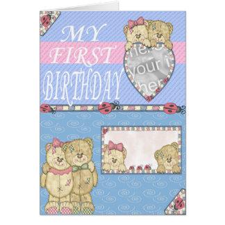 Primera fiesta de cumpleaños tarjeta de felicitación