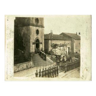Primera Guerra Mundial,    entierro militar francé Postal