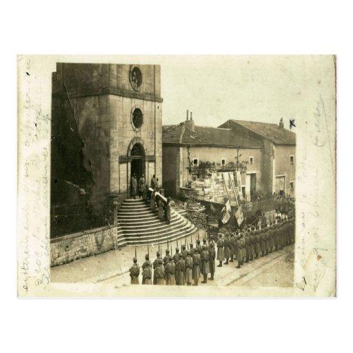 Primera Guerra Mundial,    entierro militar francé Tarjeta Postal